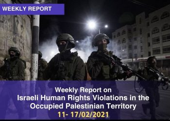 Weekly Report on Israeli Human Rights Violations in the Occupied Palestinian Territory (11-17 January 2021)